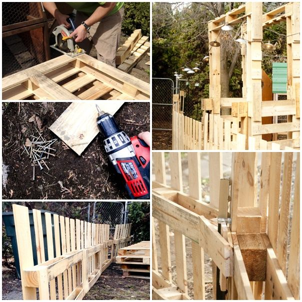 Homestead Homemade Wood Pallet Fence DIY Project ...