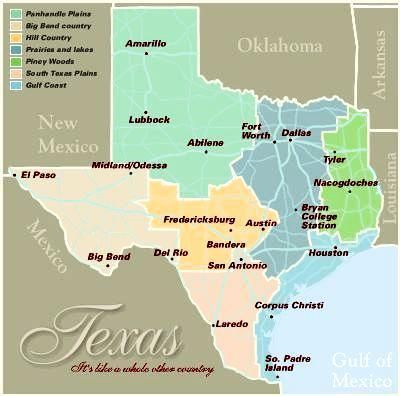 Texas Map Pictures