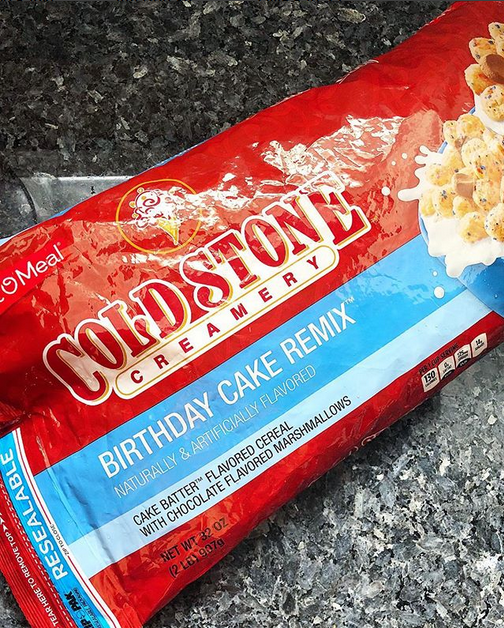 Cold Stone Creamery Birthday Cake Remix Cake Batter Flavored Cereal