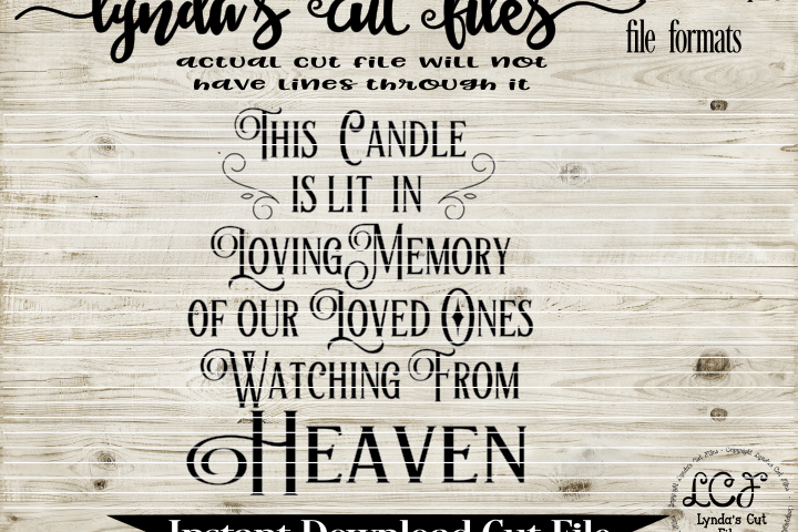 Download This Candle is Lit// Memorial// SVG/EPS/DXF File | Light ...