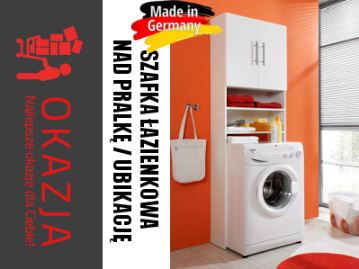 Szafka Regal Slupek Nad Pralke Lazienkowa Germany 5995835014 Oficjalne Archiwum Allegro Home Appliances Washing Machine Laundry Machine
