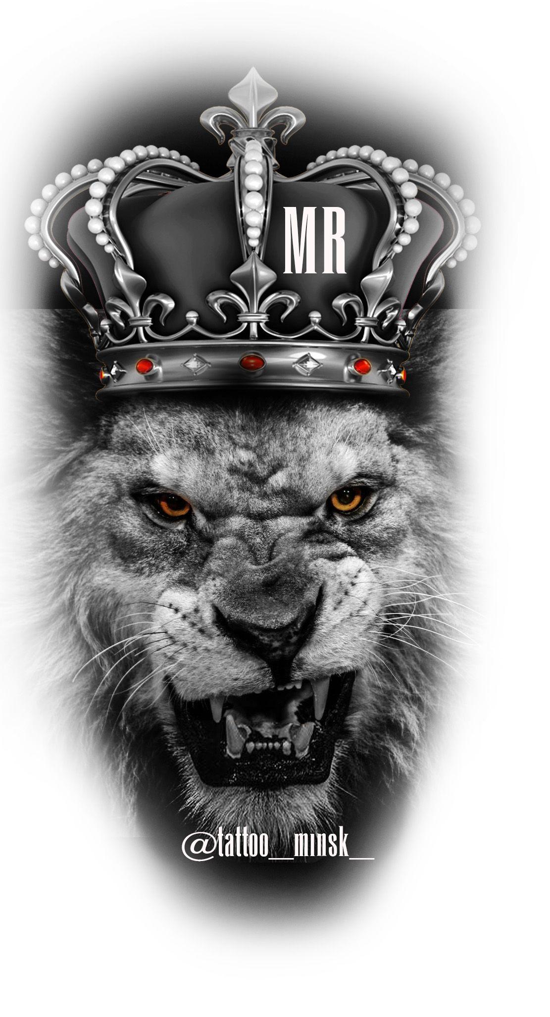lion crown vorlagen t228towierungen tattoo vorlagen und