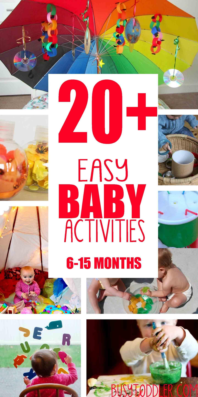 20+ Fun & Easy Baby Activities | Baby Play | Activities ...