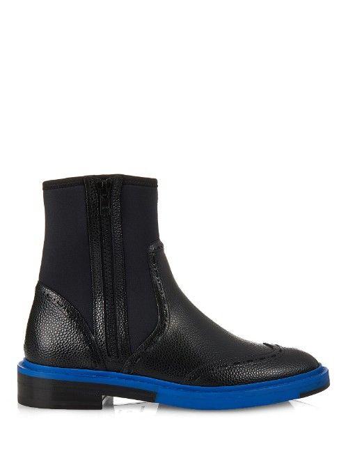 287d60396 Balenciaga Legacy leather and neoprene chelsea boots   ♡ čo viac si ...