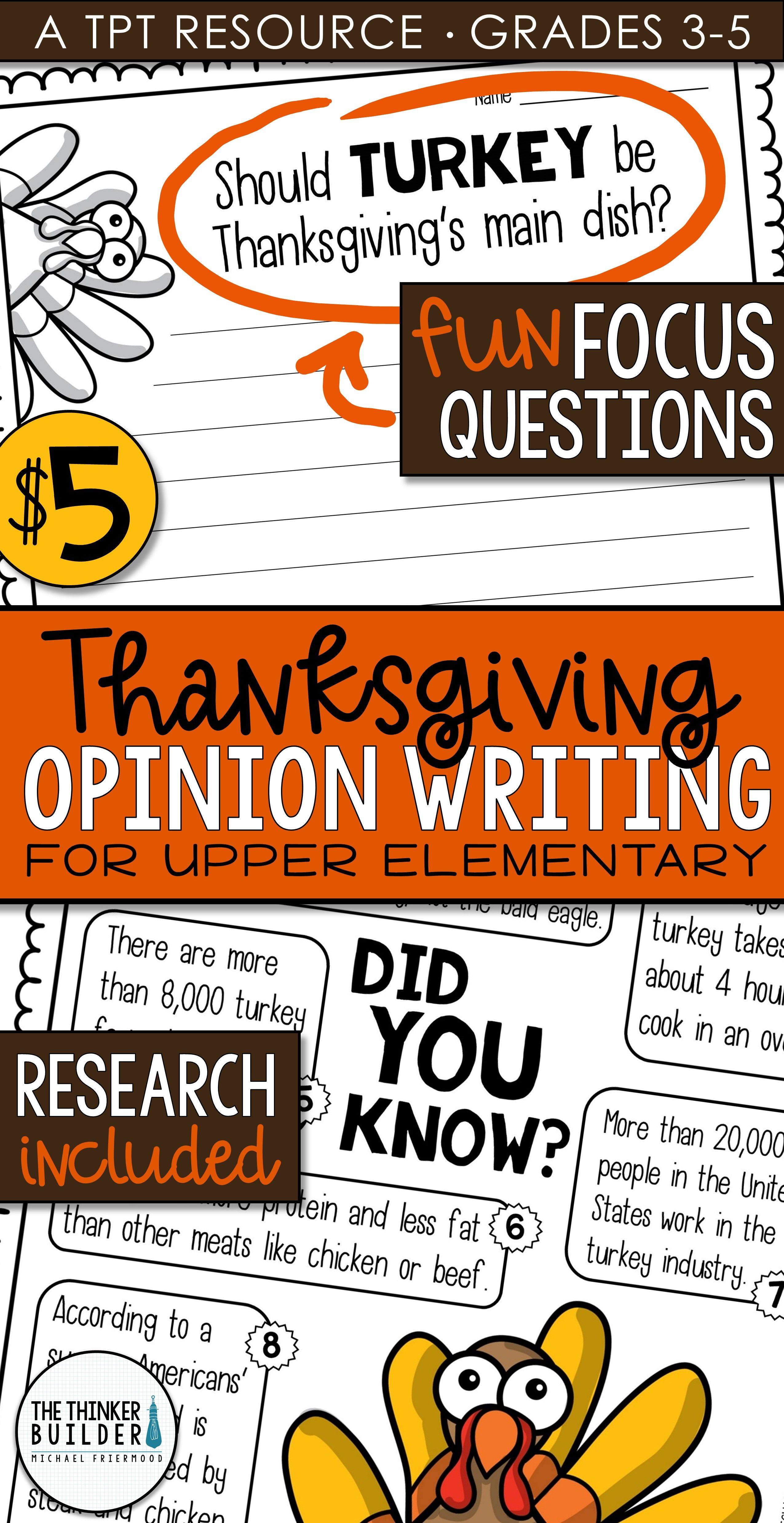 Thanksgiving Writing Opinion Writing Lessons Amp Activities