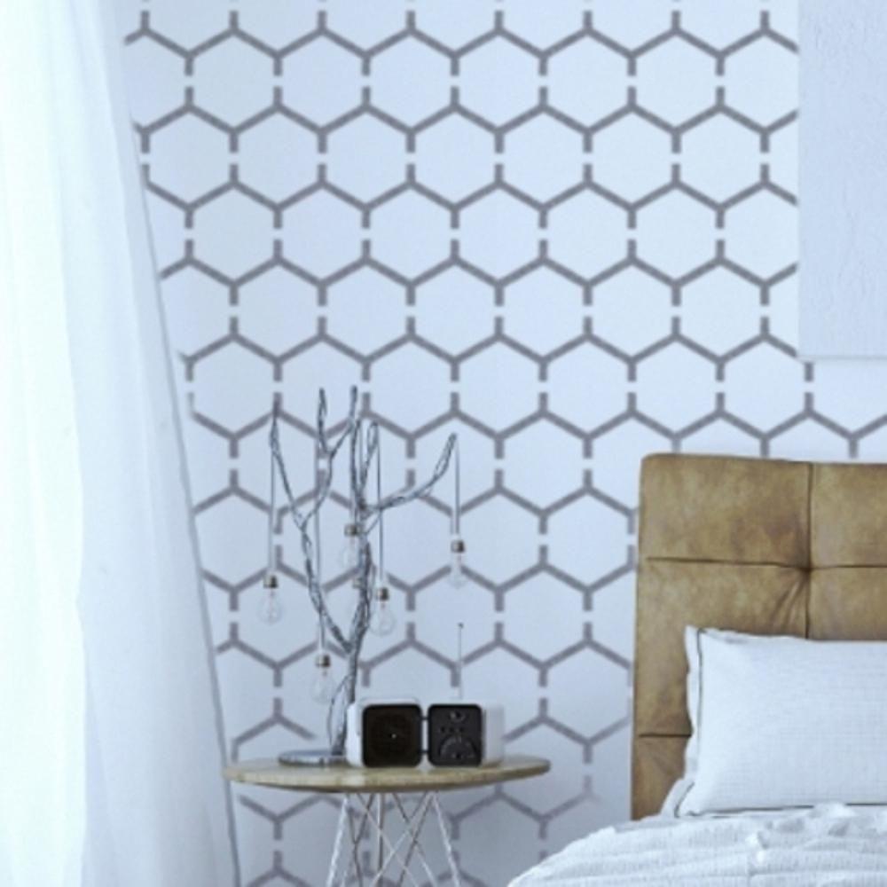 Furniture Wall Floor Stencil for Painting HONEYCOMB Modern Geometric Hexagon