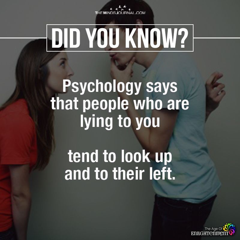 Psychology Says That People Who Are Lying To You