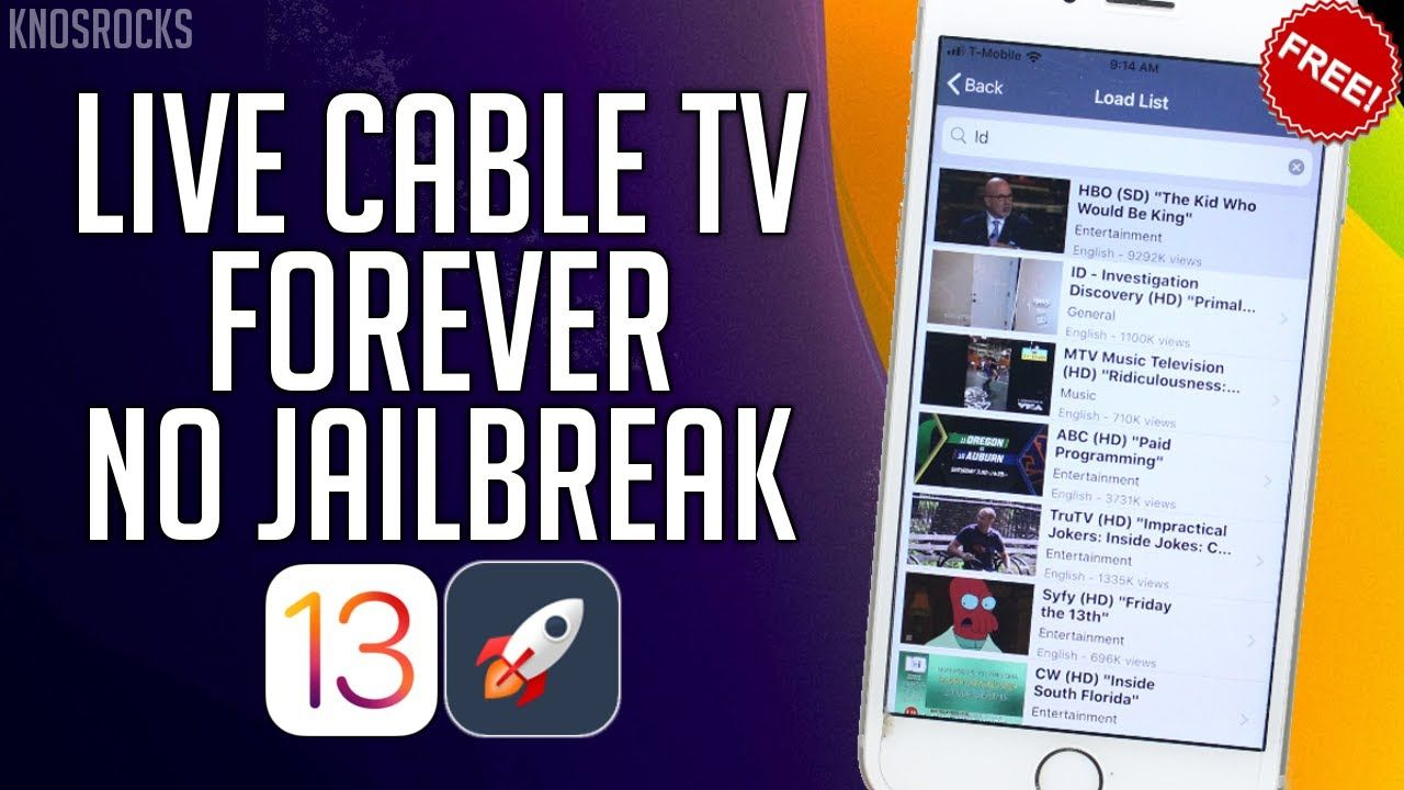 NEW Watch Live Cable TV & Sports FREE iOS 13 13.3 / 12