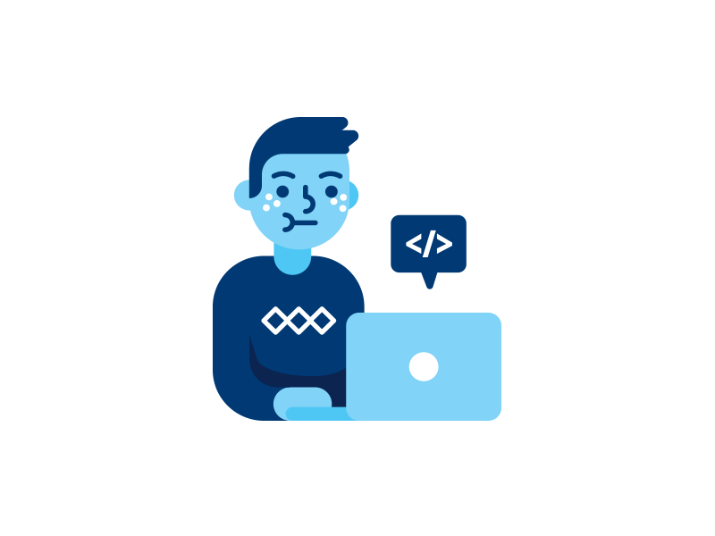 Programmer Icon Character Programmer Icon Character