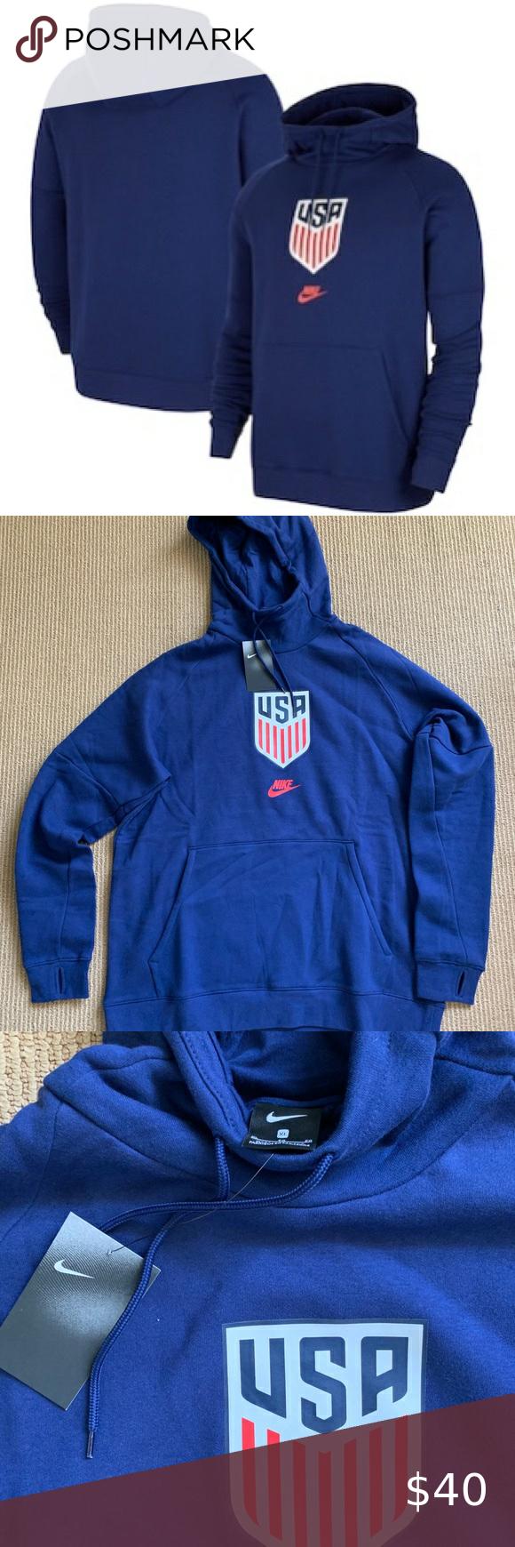 Us Soccer Nike Fleece Pullover Hoodie Navy Fleece Pullover Nike Fleece Pullover Hoodie [ 1740 x 580 Pixel ]