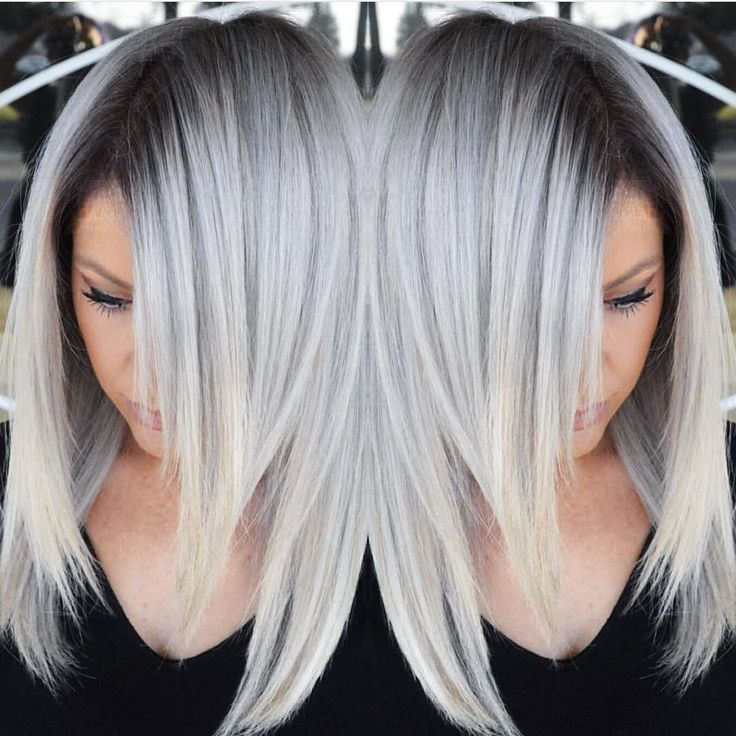 """Hot on Beauty on Instagram: """"Stunning Silver hair color design ..."""