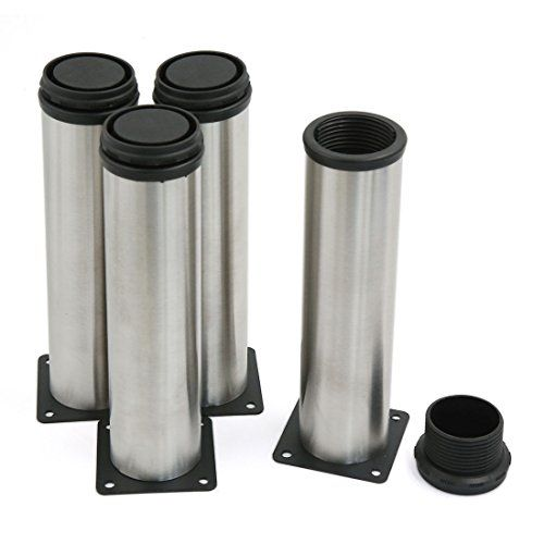 4PCS 200mm Height Adjustable Stainless Steel Metal Furniture ...
