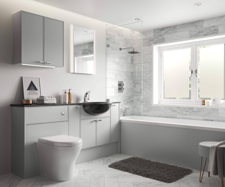 Ely Shown In Light Grey Matt Bespoke Bathroom Bathroom Design