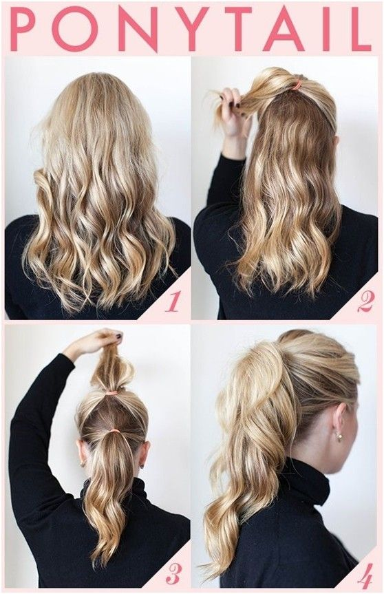 15 Cute And Easy Ponytail Hairstyles Tutorials Easy Hair Updo Step
