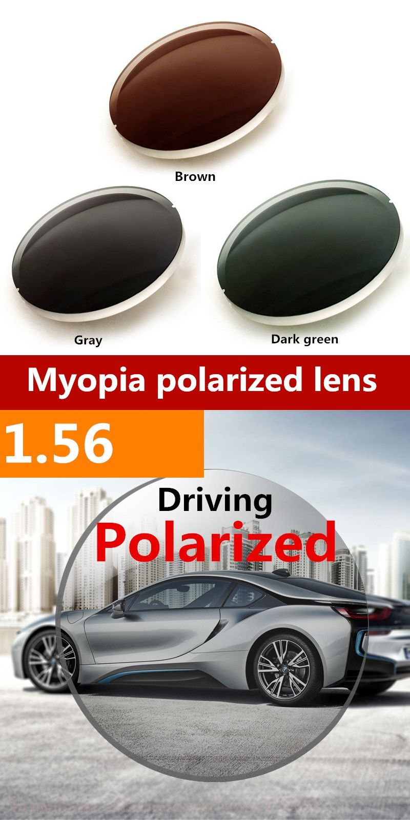 1.56 Men Women Myopic Polarized Lenses Driving Fishing Outdoors With ...