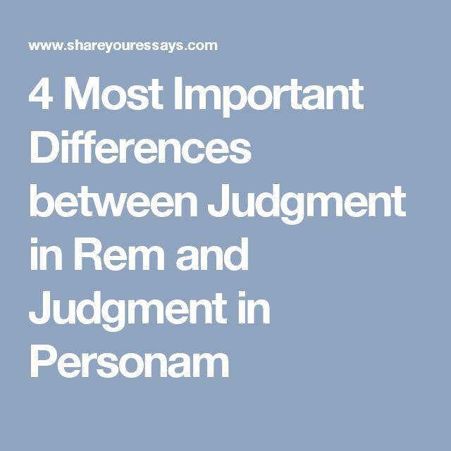 judgement in rem