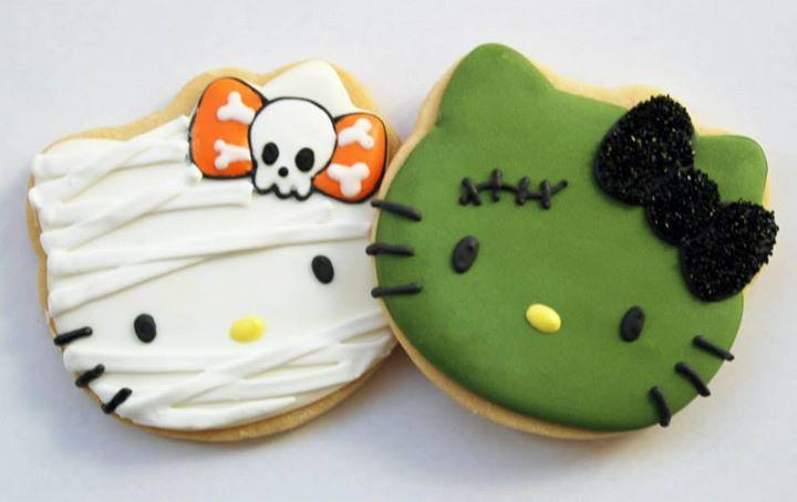 Halloween hello kitty cookies Decorated Cookies Pinterest - hello kitty halloween decorations