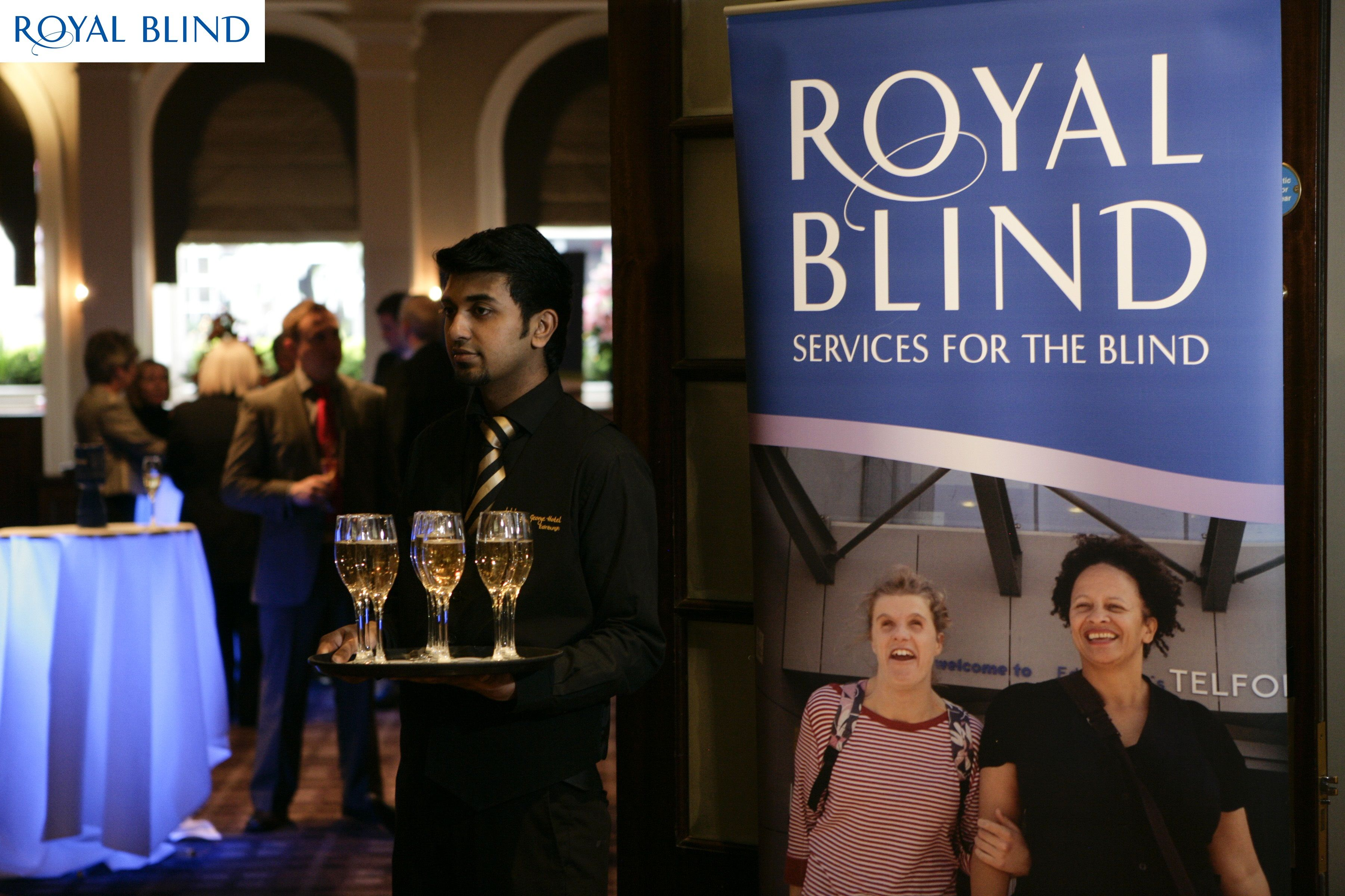 Royal Blind Try & Score Celebrity Quiz Night in Edinburgh 2013 Drinks Reception