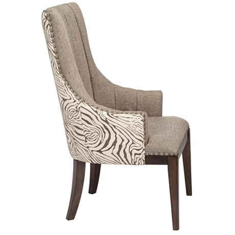 Best Safari Two Tone Channel Back Accent Chair Accent Chairs 400 x 300