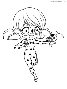 Miraculous Tales Of Ladybug Cat Noir Coloring Pages Print And Color Com Ladybug Coloring Page Coloring Pages Bugs Drawing