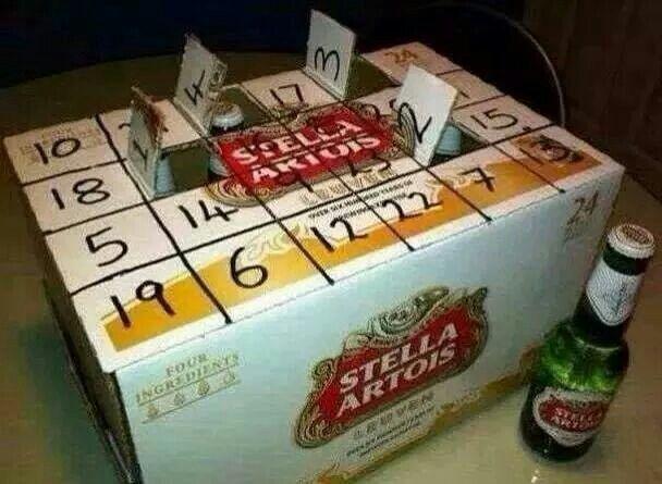 Calendario Avvento Birra.Calendario Avvento Birre Diy Calendario Avvento