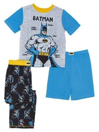 Komar Kids Little Boys Batman Long Sleeve Sleepwear Set Komar Boys 2-7 K182018BM