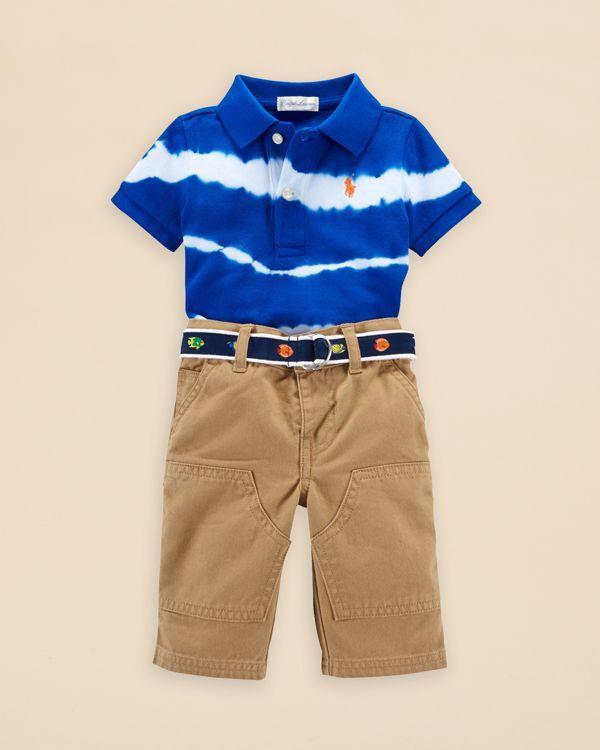 678d291dc Ralph Lauren Childrenswear Infant Boys' Tie Dye Polo Shirt & Pants Set - Sizes  3-24 Months