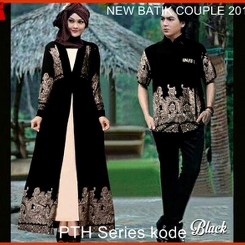 Baju Batik Tanah Abang Murah: 32PTH Batik Couple Ala Bali Murah Pasangan Hitam Bj9032
