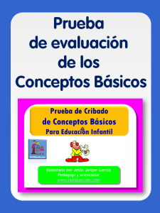 Prueba de evaluacion de conceptos basicos