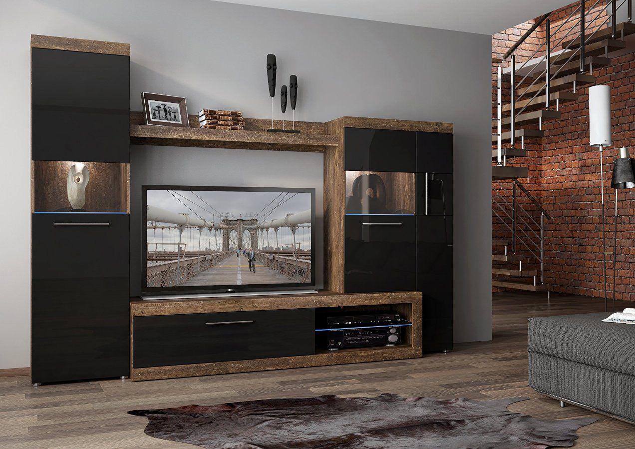 Sicily 100 Wohnzimmer Schrankwand Moderne Schrankwande
