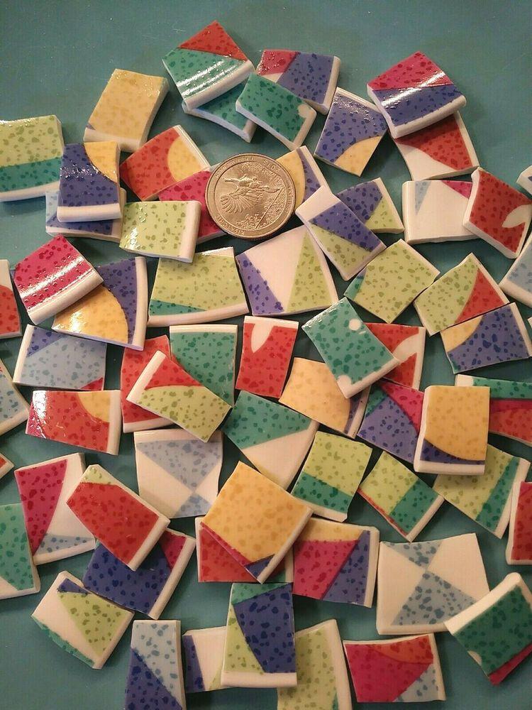 Hand Cut mosaic tiles Plate rims Broken Plate Tiles