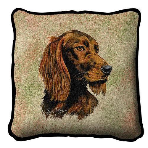 Irish Setter Dog Portrait Pillow