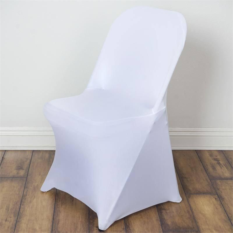 White Spandex Stretch Folding Chair Cover In 2019 Road 22