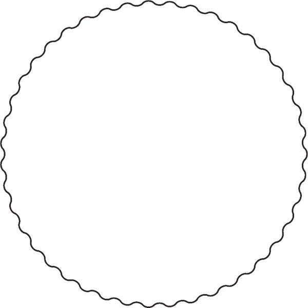 Squiggly Circle Circle Circle Template Circle Frames