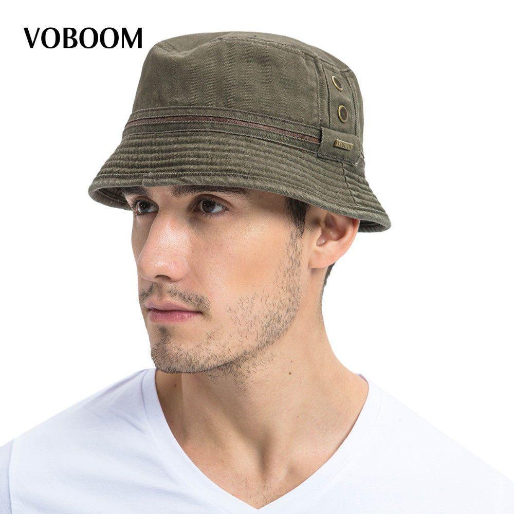 68bbd4a7347 VOBOOM Summer Sun Bucket Hat Cotton Men Women Breathable Panama Fishing Cap  102  fashion