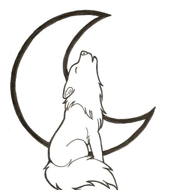 Cartoon Howling Wolf Coloring Pages