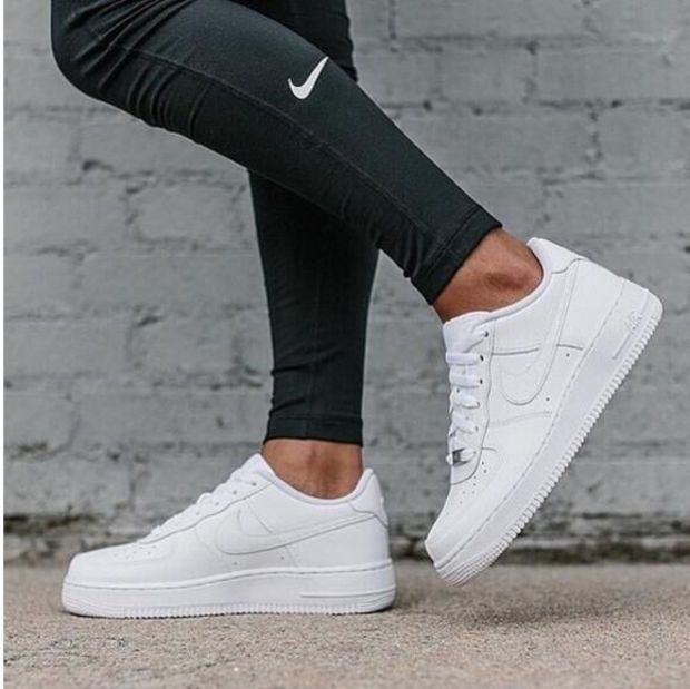 the best attitude 27cf7 bdbd9 NIKE Women Men Running Sport Casual Shoes Sneakers Air force White