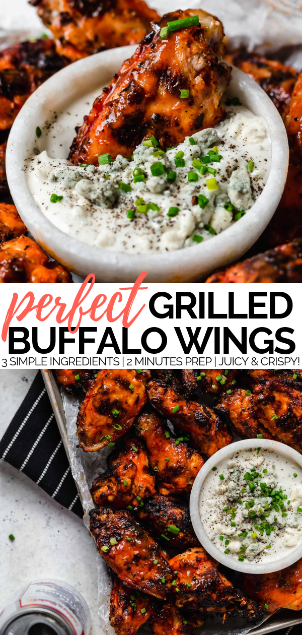 best grilled buffalo chicken wings recipe (3 ingredients!)
