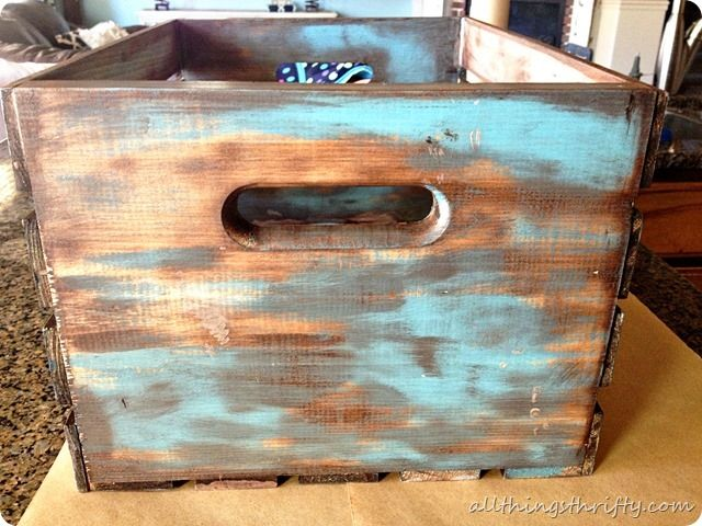 How to antique wood {with paint and stain} - How To Antique Wood {with Paint And Stain} Wooden Wine Boxes, Wine