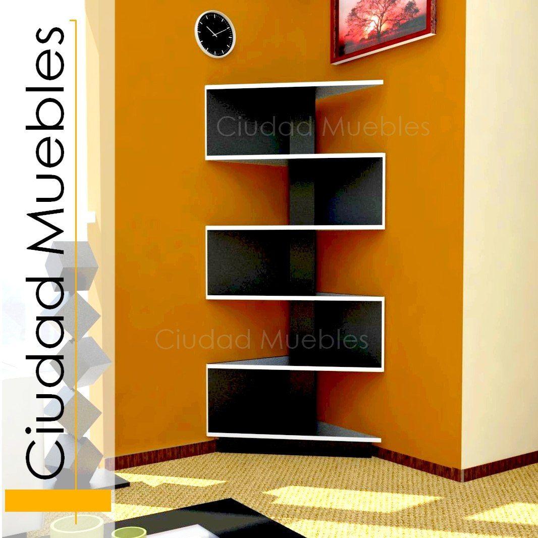 Librero esquinero hogar decoracion muebles muebles for Muebles esquineros de madera
