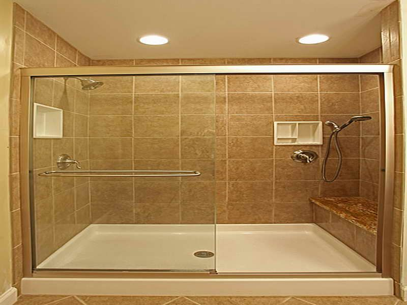 choosing the match bathtub shower tile designs with creamy colour ...