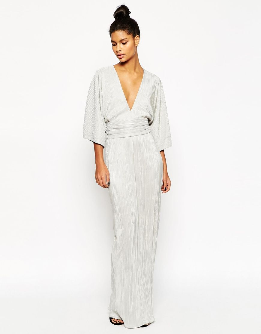 d3f962dc8946 Image 1 of ASOS Plisse Pleated Maxi Kimono With Belt Dress   To wear ...