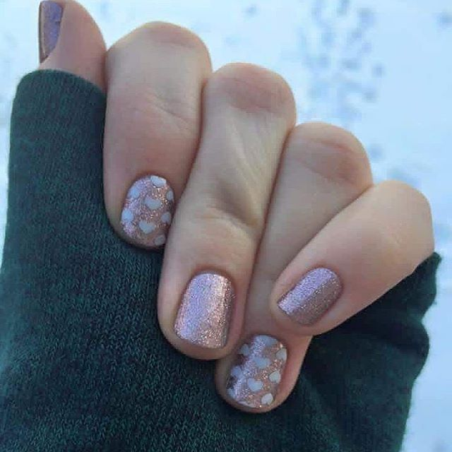 Love this combo!! Jamberry Rose Gold Sparkle and Pop Heart ...