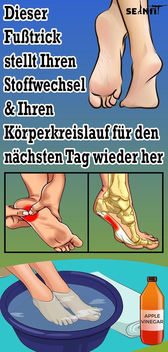 Questo trucco per i piedi ripristina il metabolismo e la circolazione del corpo per il giorno successivo