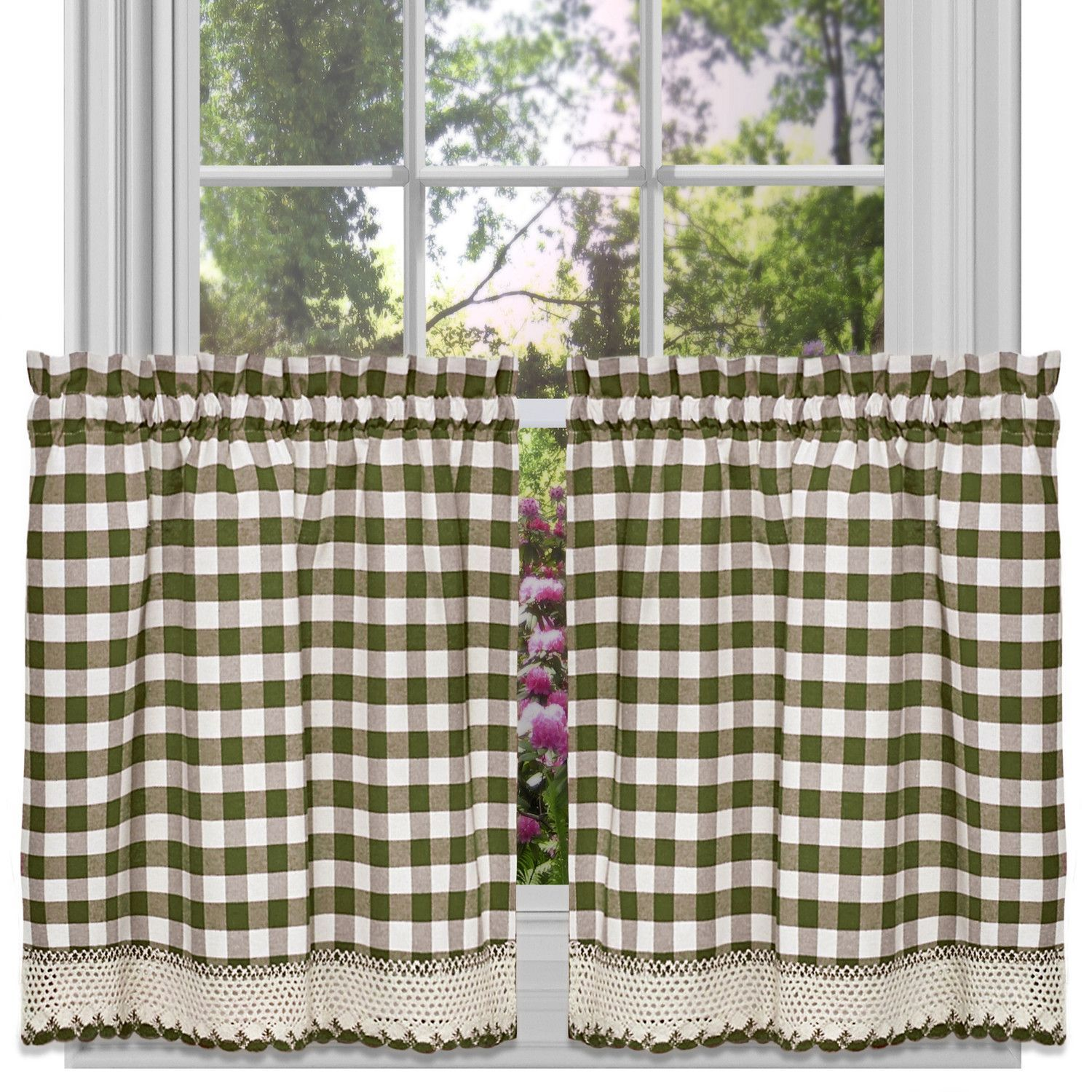 Steinke Scrolling 42 Window Valance Sweet Home Collection Tier Curtains Cafe Curtains