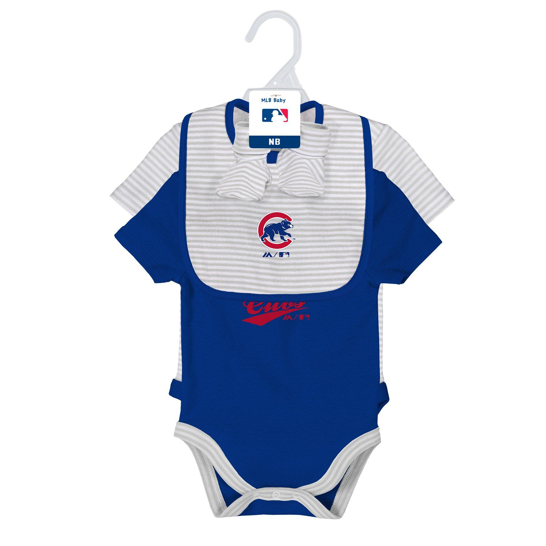 Cubs 2 Pack Bodysuits Bib and Booties