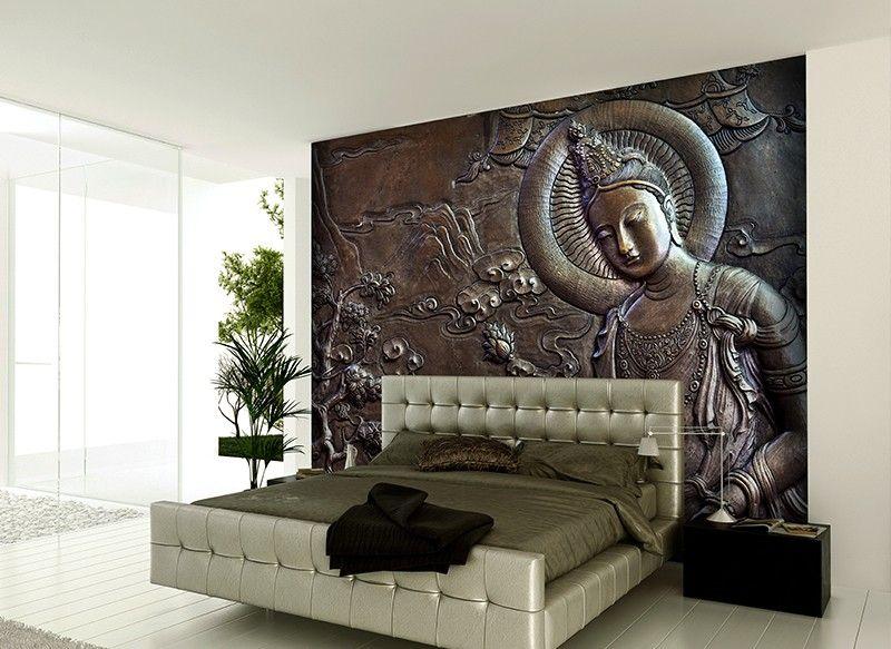 buddha photo mural Wallpaper walls bedroom, Wall