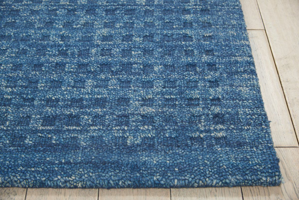 Dove Solid Hand Woven Wool Navy Blue Area Rug With Images