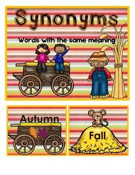 Fall Synonyms | Speech Therapy: Fall | Synonym activities, Fall
