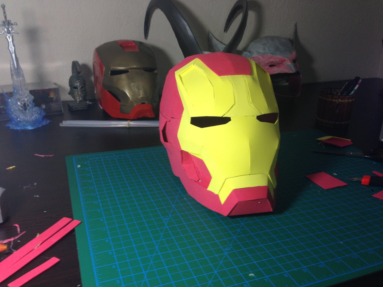 How To Make Iron Man Helmet Out Of Eva Foam Tutorial Iron Man Iron Man Helmet How To Make Iron